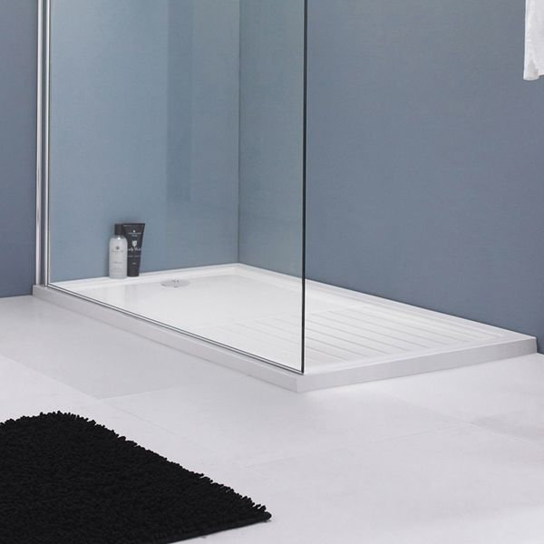 Premier Rectangular Walk In Shower Tray 1400 x 900mm Lifestyle