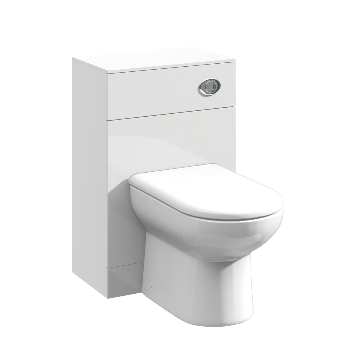 Nuie High Gloss White WC Unit with Back To Wall Toilet
