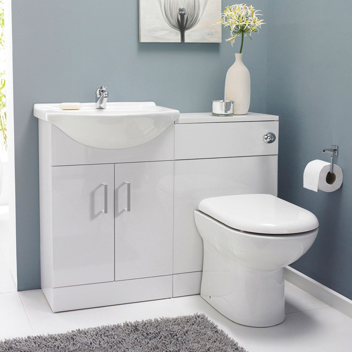 Madison Bathroom Furniture Pack with Ella Corner Entry Shower Enclosure