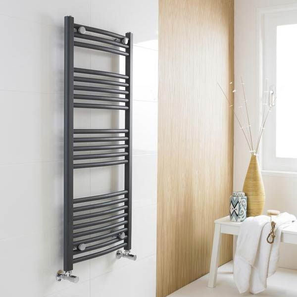 Premier Anthracite Curved Ladder Towel Rail Lifestyle