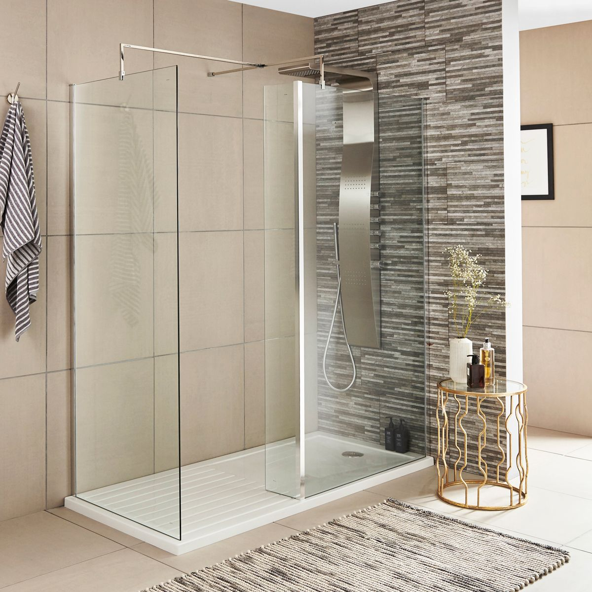 Premier Wet Room Shower Enclosure with Optional Side Panel