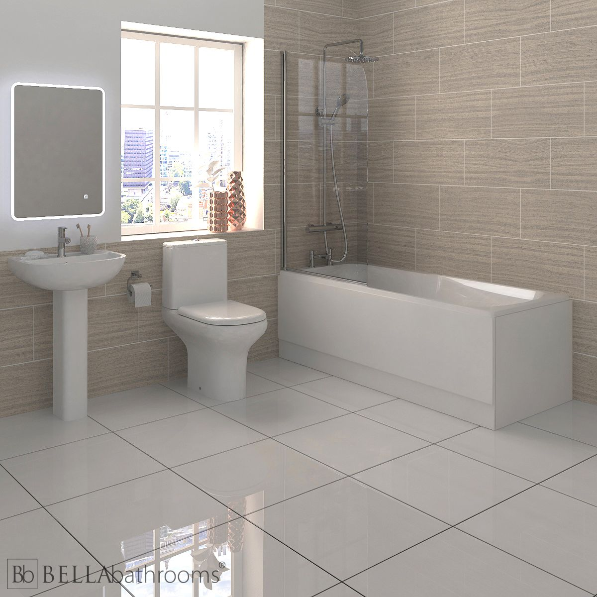 RAK Compact Shower Bath Suite