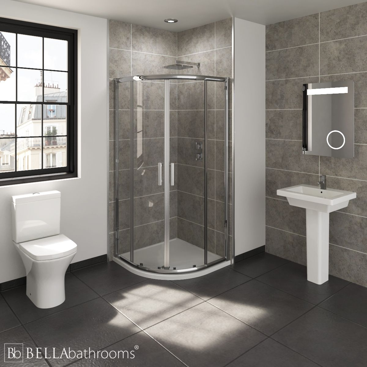 RAK Resort En-Suite with Quadrant Shower Enclosure