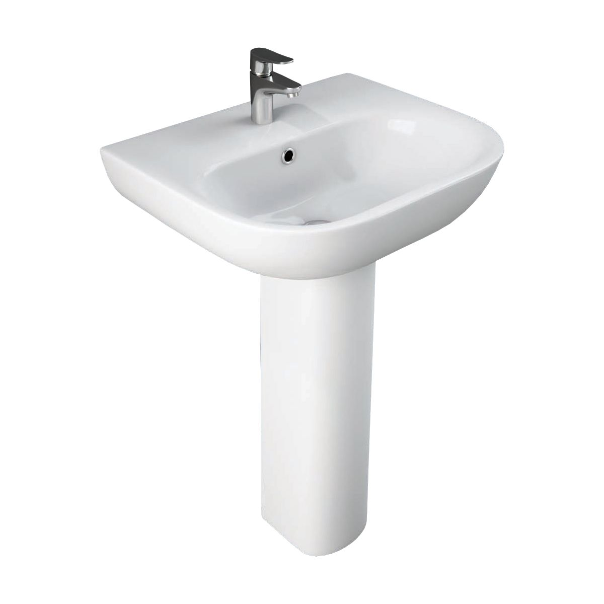 RAK Tonique 1 Tap Hole Basin with Full Pedestal