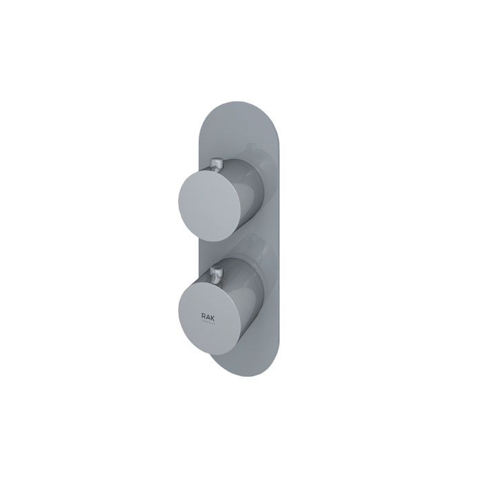 RAK Feeling Grey Round Single Outlet Thermostatic Shower Valve