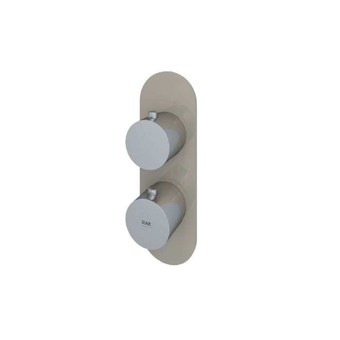 RAK Feeling Cappucino Round Single Outlet Thermostatic Shower Valve