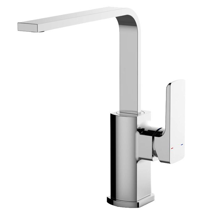 RAK Liston Chrome Side Lever Handle Kitchen Sink Mixer Tap