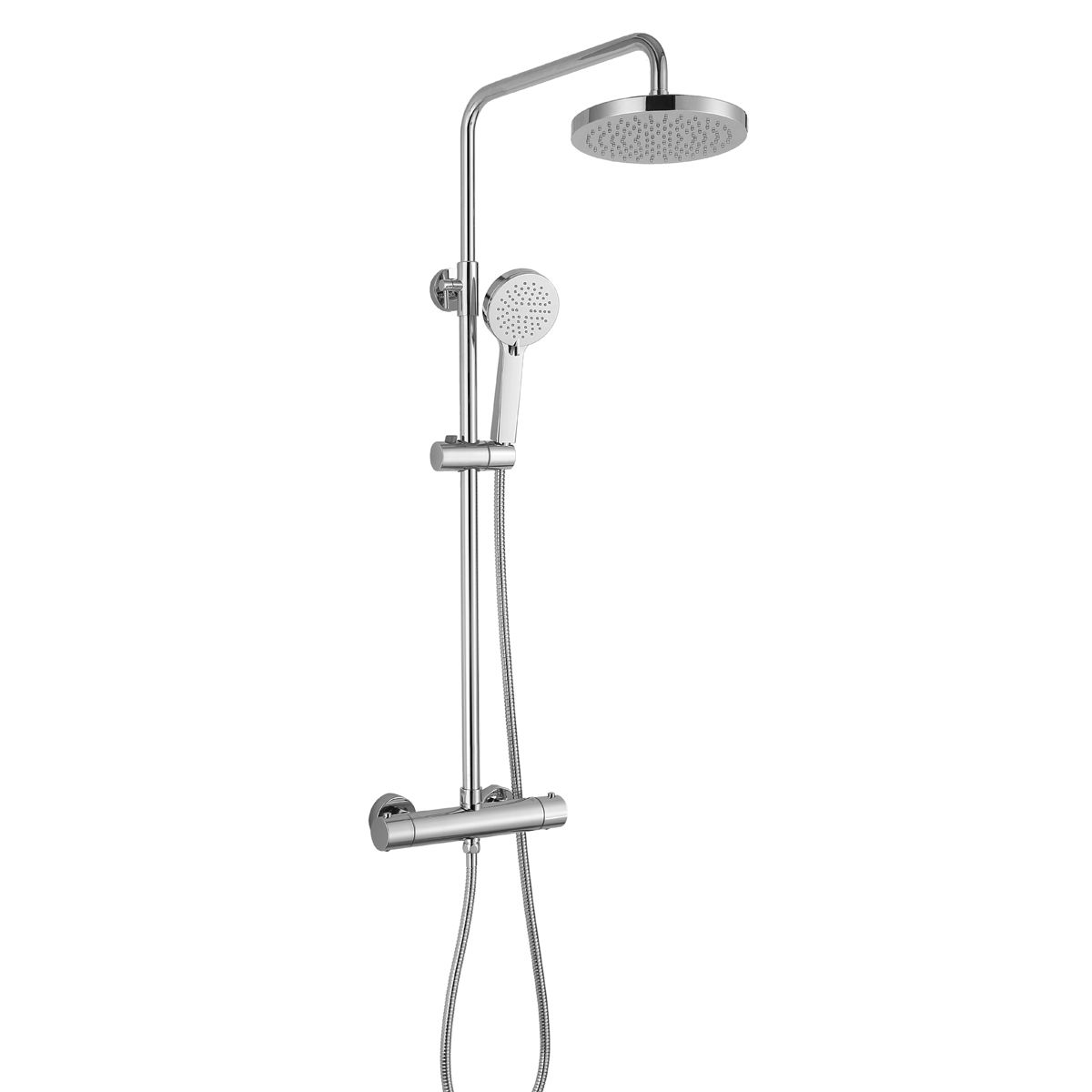 RAK Cool Touch Round Thermostatic Shower Column with Shower Head