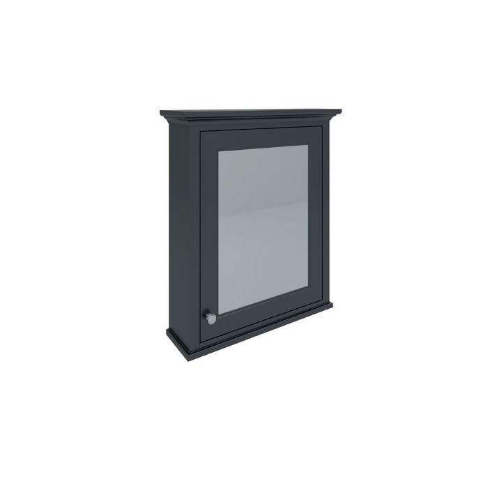RAK Washington Black Bathroom Mirror Cabinet 650mm