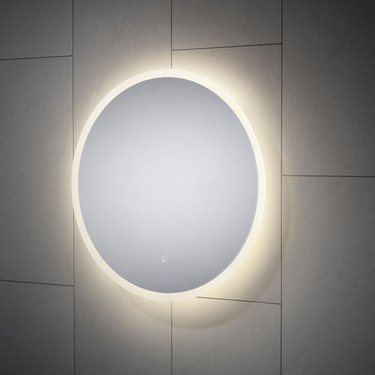 Como round led mirror changing colour