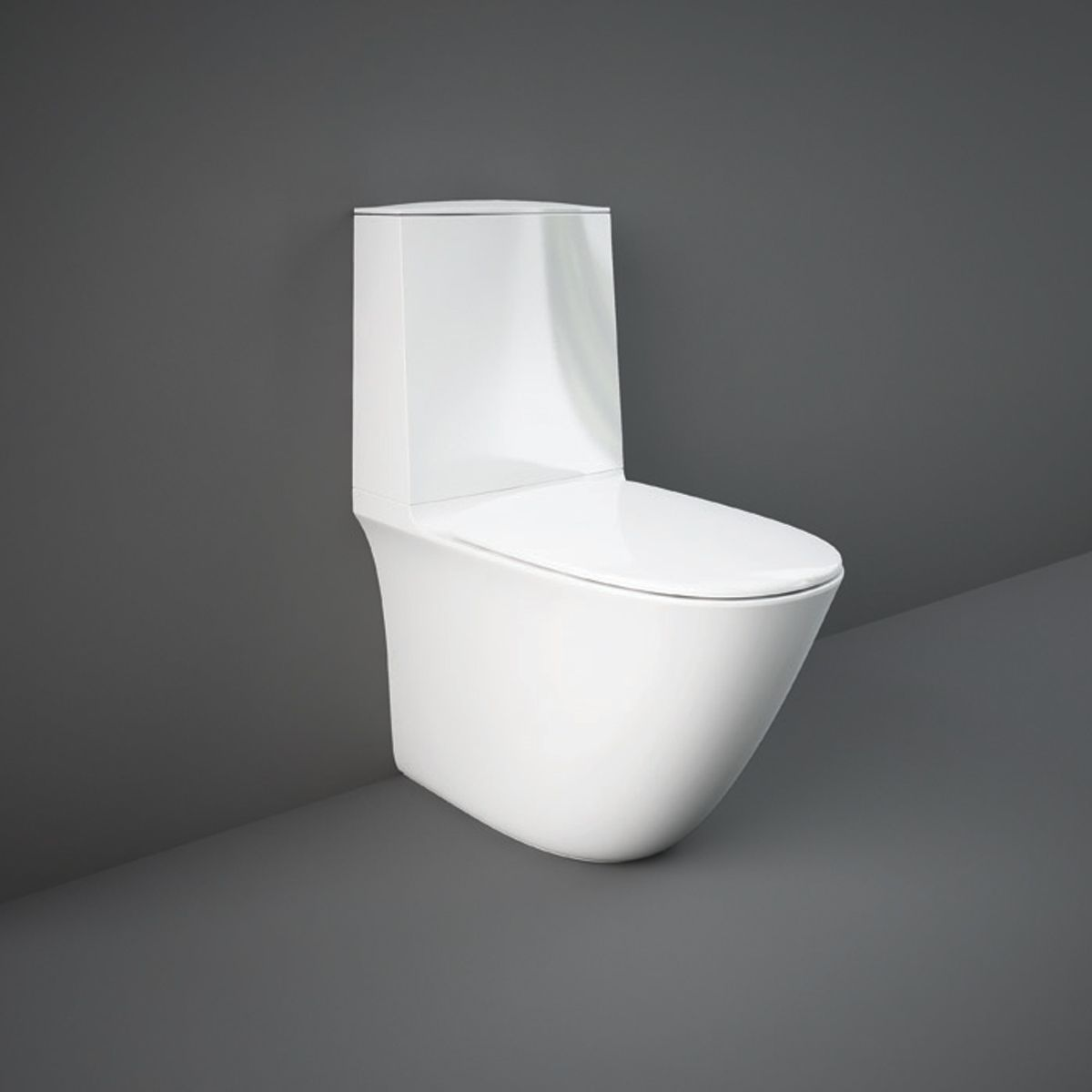 RAK Sensation Close Coupled Back To Wall Touchless Flush Toilet with Soft Close Seat