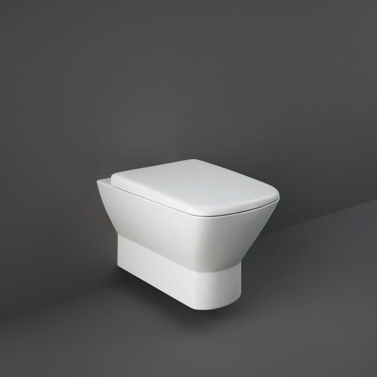 RAK Summit Wall Hung Hidden Fixation Toilet with Wrap Over Soft Close Seat