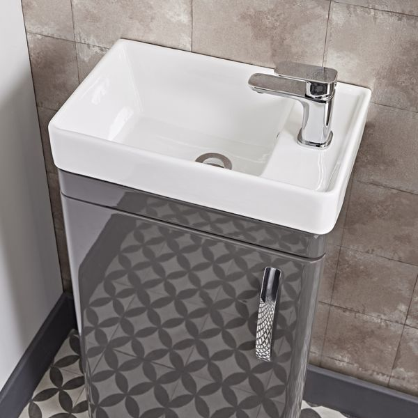 Tavistock Compass Gloss White Cloakroom Vanity Unit 450mm Basin