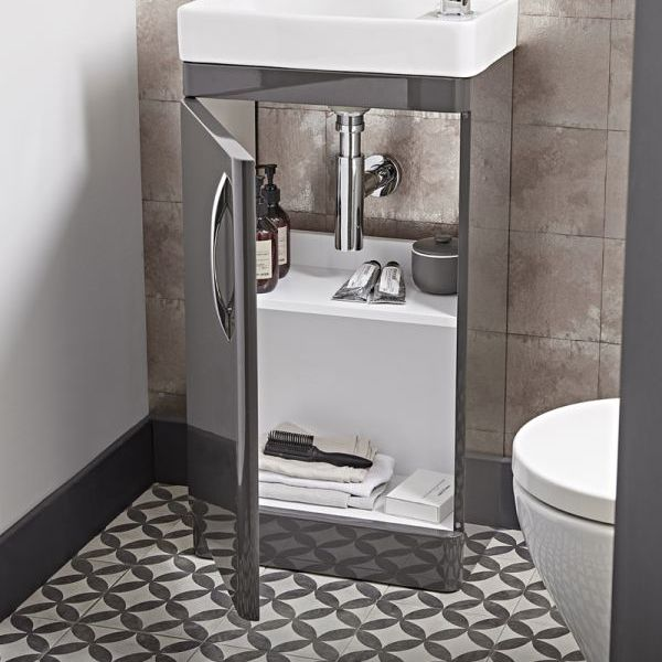Tavistock Compass Gloss White Cloakroom Vanity Unit 450mm Inside
