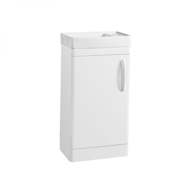 Tavistock Compass Gloss White Cloakroom Vanity Unit 450mm
