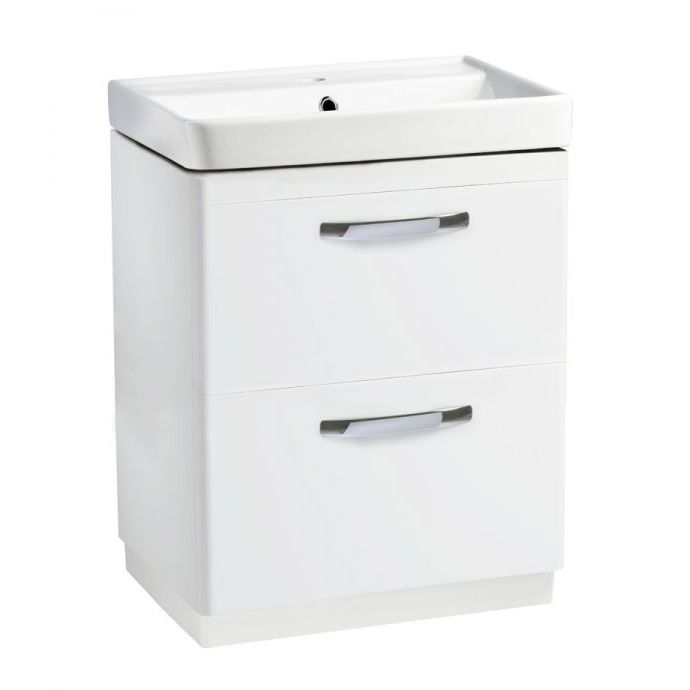 Tavistock Compass Gloss White Drawer Vanity Unit 600mm