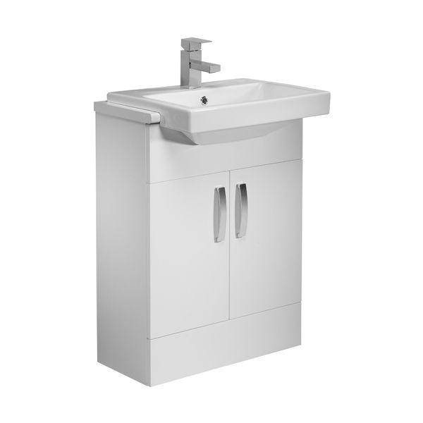 Tavistock Courier White Vanity Unit 600mm