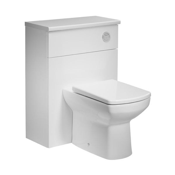 Tavistock Courier White Back To Wall WC Unit 600mm