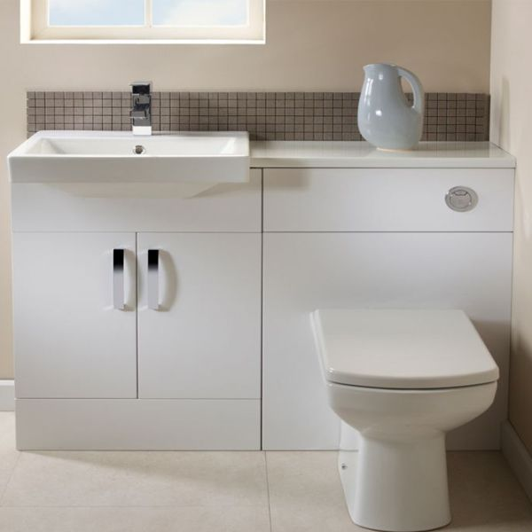 Tavistock Courier White Back To Wall WC Unit 600mm Lifestyle