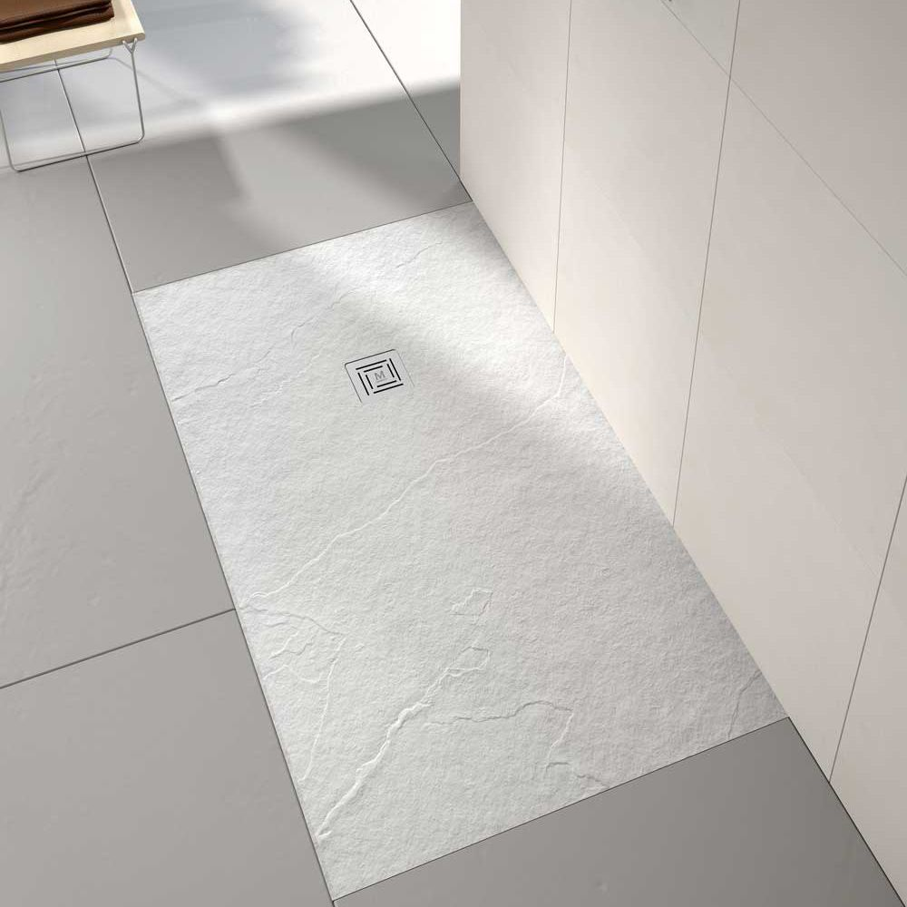 Merlyn Truestone White Rectangular Shower Tray 1000 x 800mm