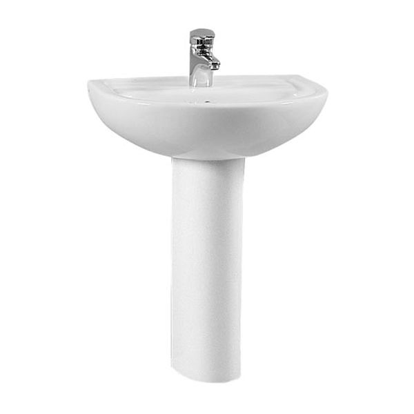 Vitra Layton Basin with Full Pedestal 600mm