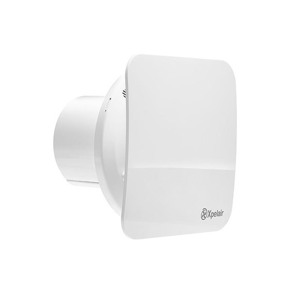 Xpelair Simply Silent Contour Square Bathroom Fan with Pullcord 100mm