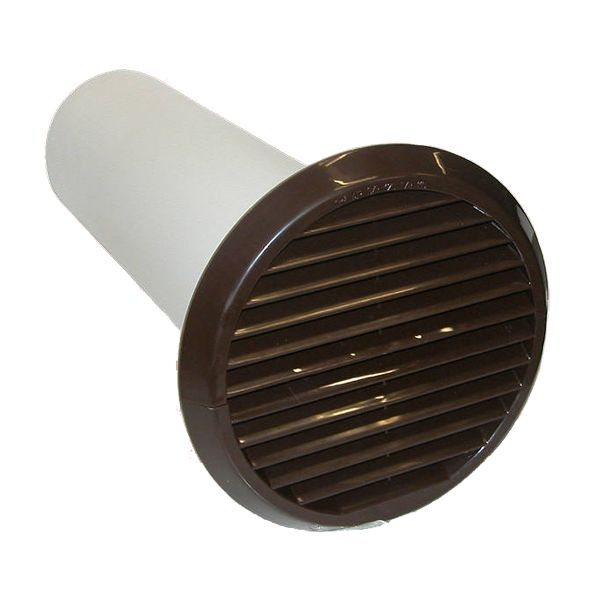 Xpelair Simply Silent Brown Wall Kit Round