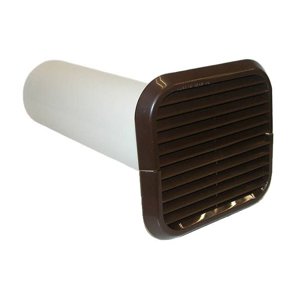 Xpelair Simply Silent Brown Wall Kit Square