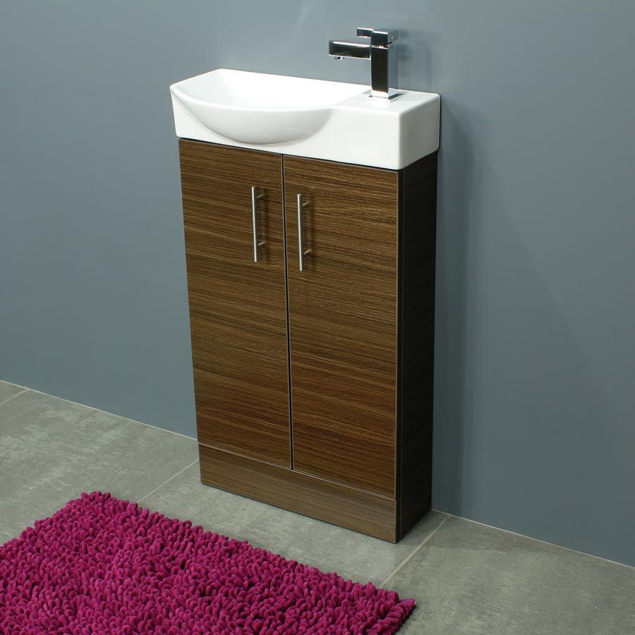 Cassellie 500 Series Mini Walnut Double Door Vanity Unit