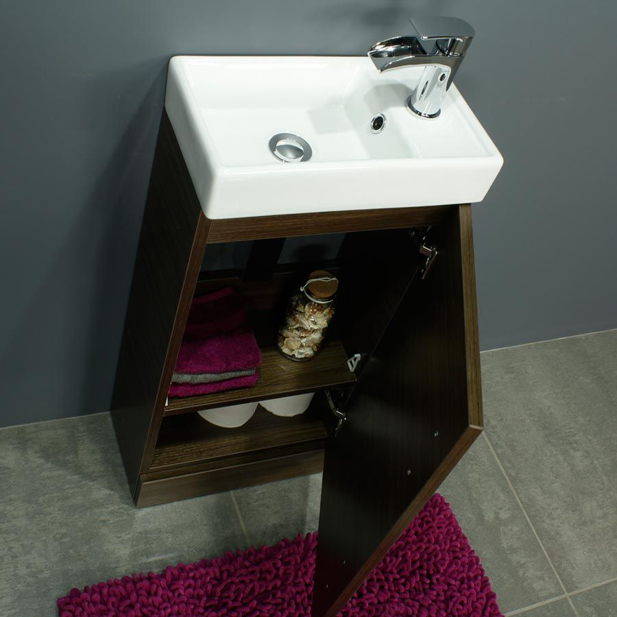 RAK Series 600 Back To Wall Toilet and 400 Series Walnut Vanity Unit Door