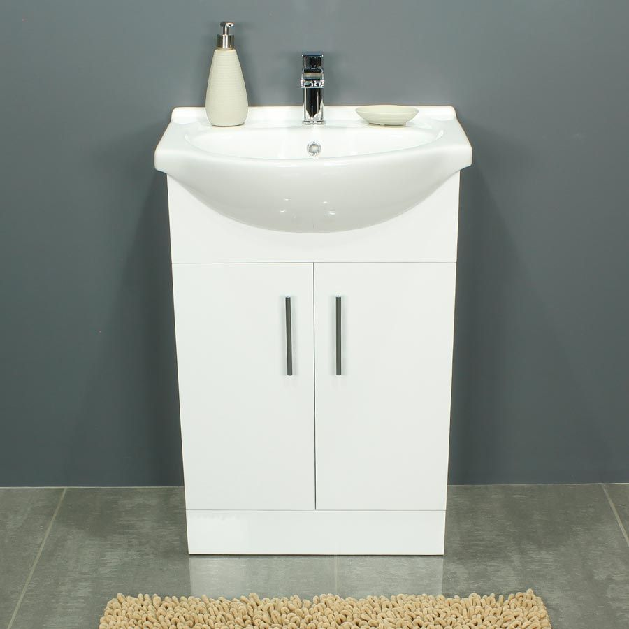 Cassellie 550 Series Gloss White Vanity Unit Front