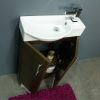 500 Series Walnut Mini Double Door Vanity Unit