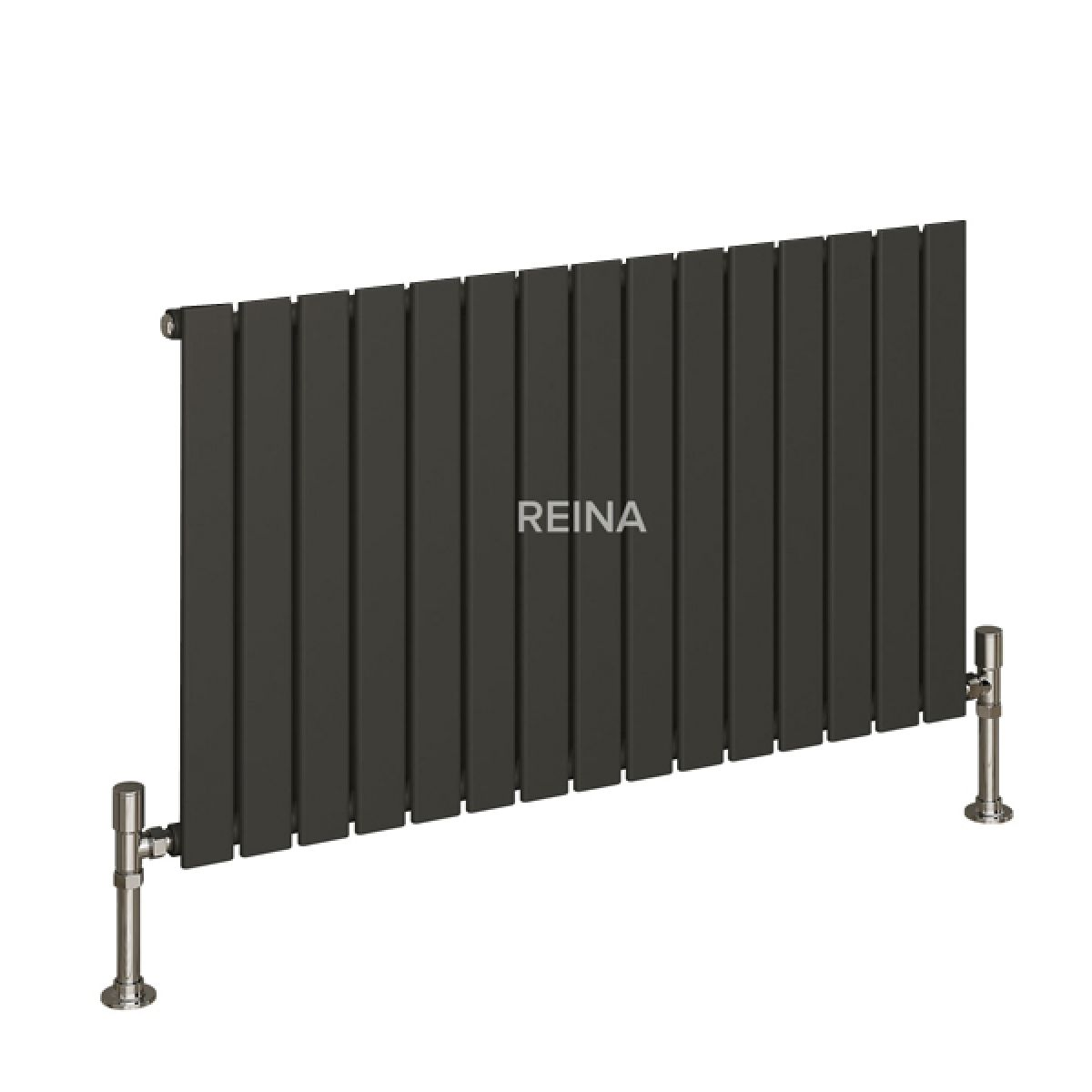 Reina Flat Anthracite Single Panel Aluminium Radiator 600 x 1032mm