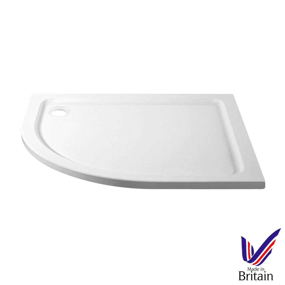 April Offset Quadrant 1000 x 800 Shower Tray Left Handed