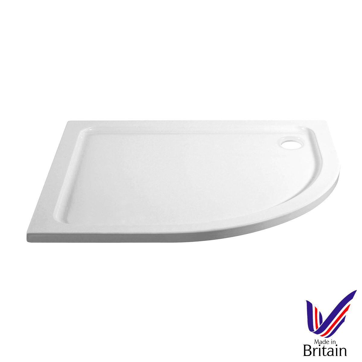 April Offset Quadrant 1000 x 800 Shower Tray Right Handed