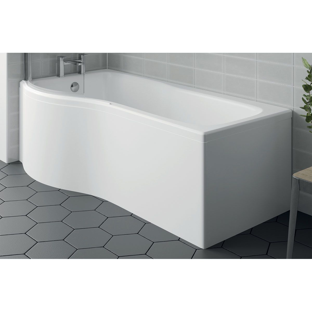 April P Shaped Bath Panel Left Hand