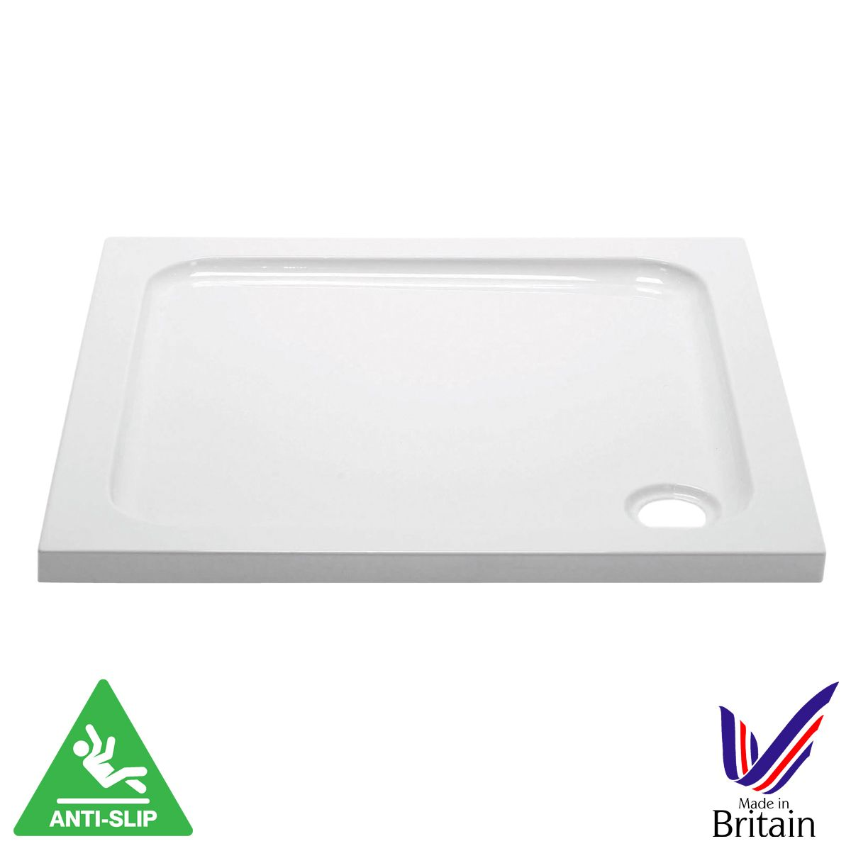 April Square Anti Slip Shower Tray 1000 x 1000
