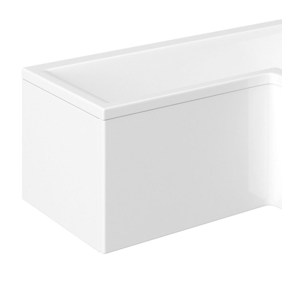 April White End Bath Panel 700mm
