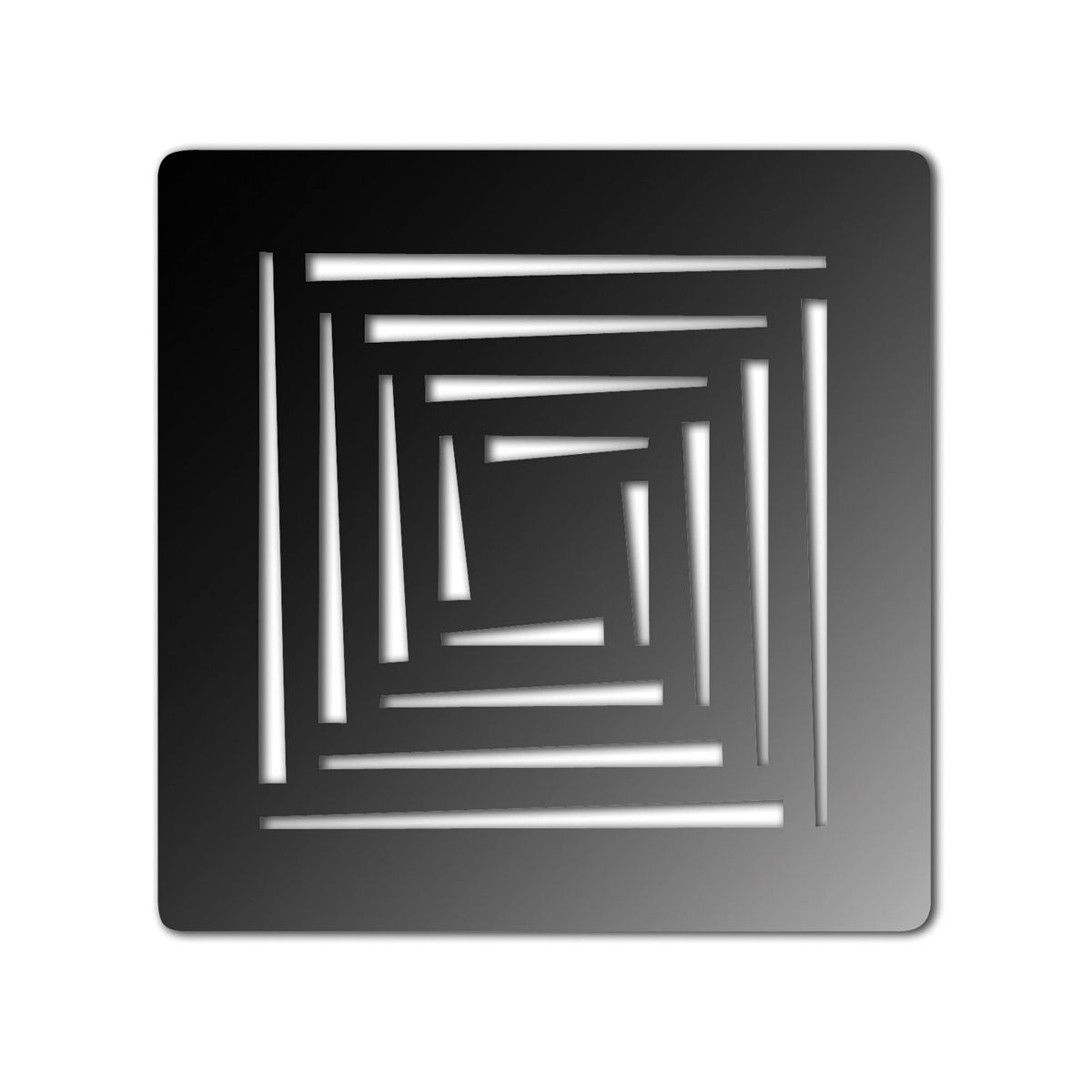 Aquadart Shower Waste with Matt Black Square Grate