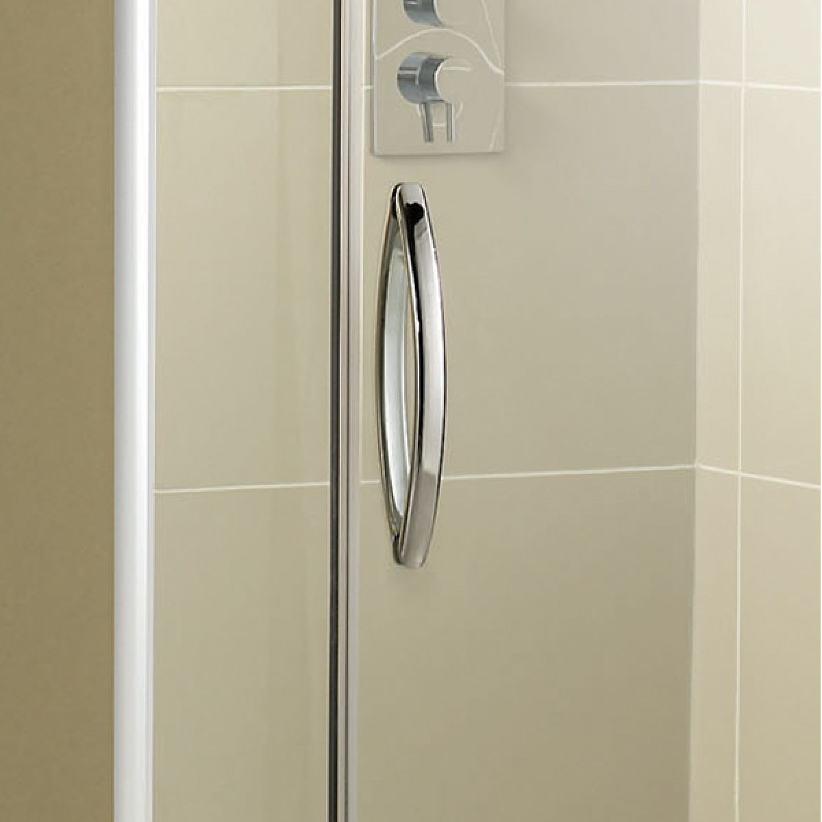 Aquadart Inline Hinged Recess Shower Door Detail 1