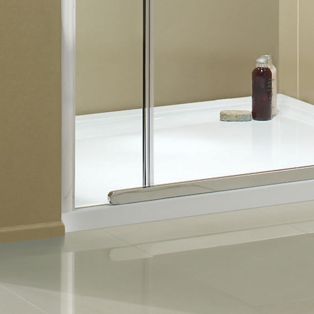 Aquadart Inline Hinged Recess Shower Door Detail 3