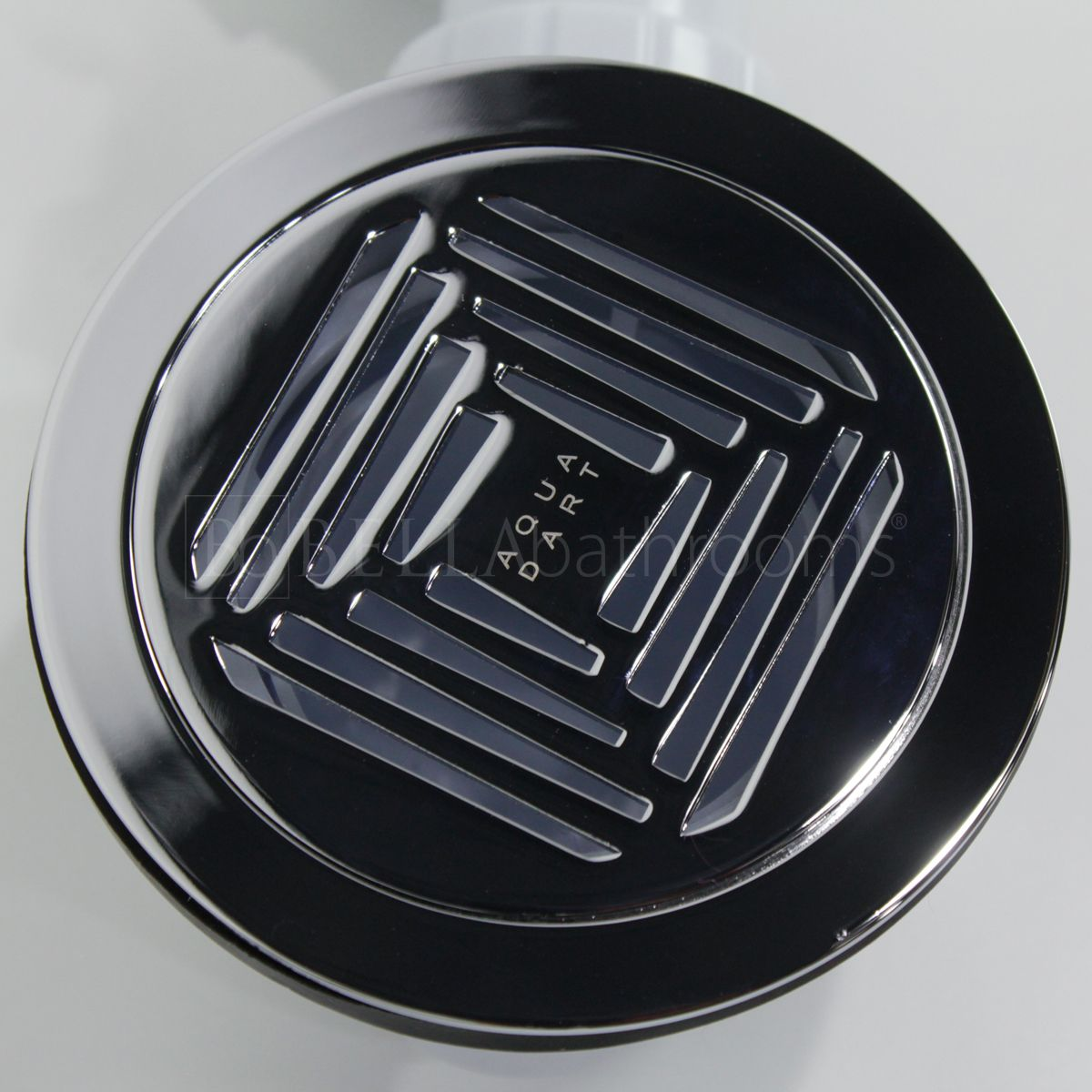 Aquadart 90mm Shower Waste with Chrome Grate Top