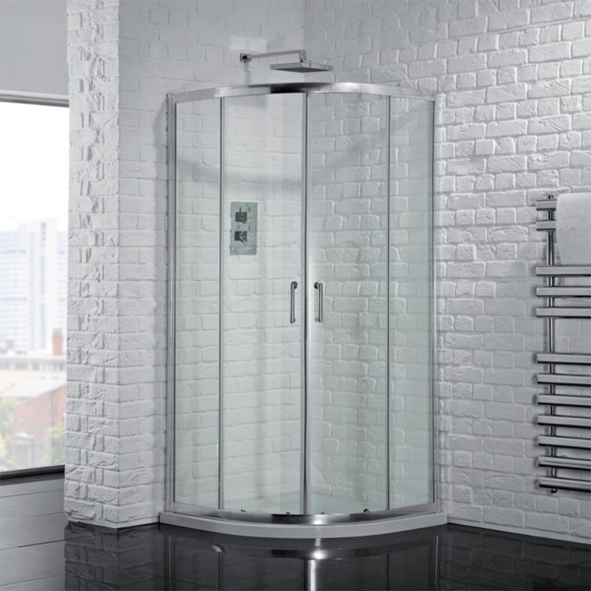 Aquadart Venturi 6 Double Door Offset Quadrant Shower Enclosure