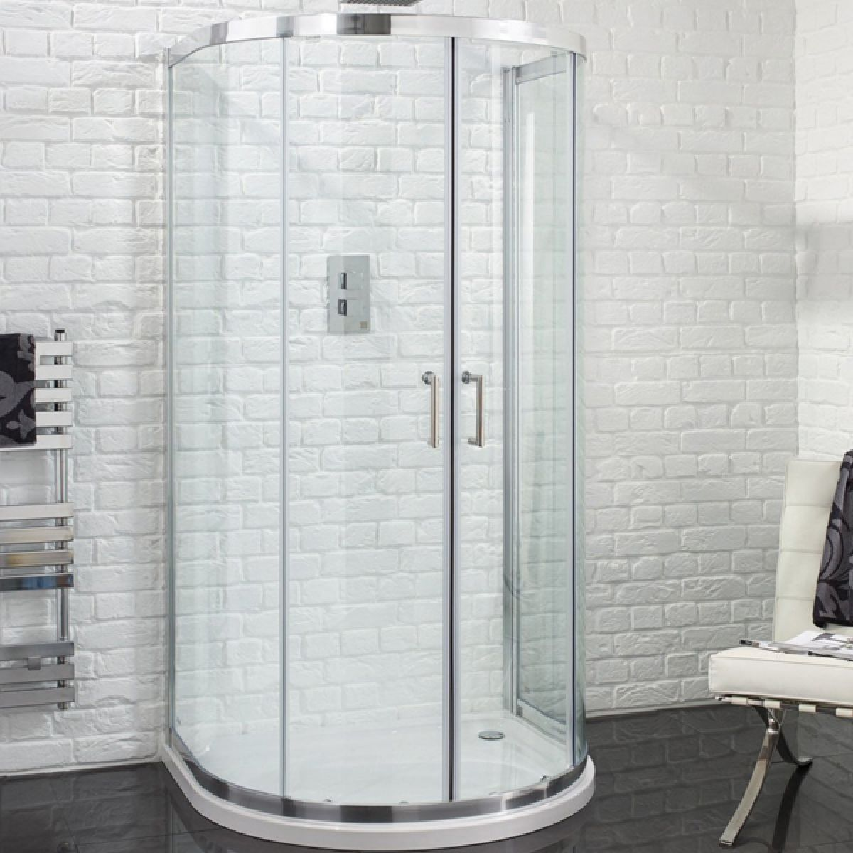 Aquadart Venturi 6 U Shaped Quadrant Shower Enclosure 915 x 1040mm