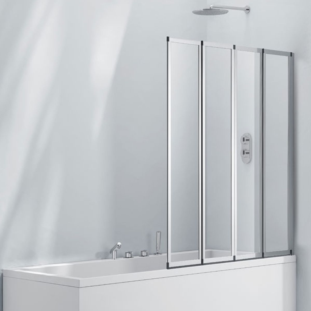Frontline Aquaglass+ 4 Fold Bath Screen