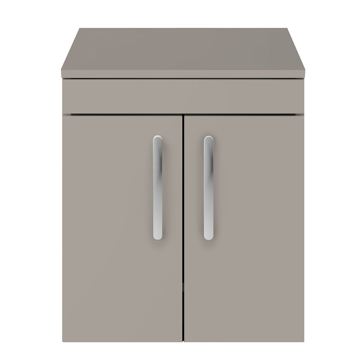 Nuie Athena Stone Grey 2 Door Wall Hung Unit 500mm with Worktop