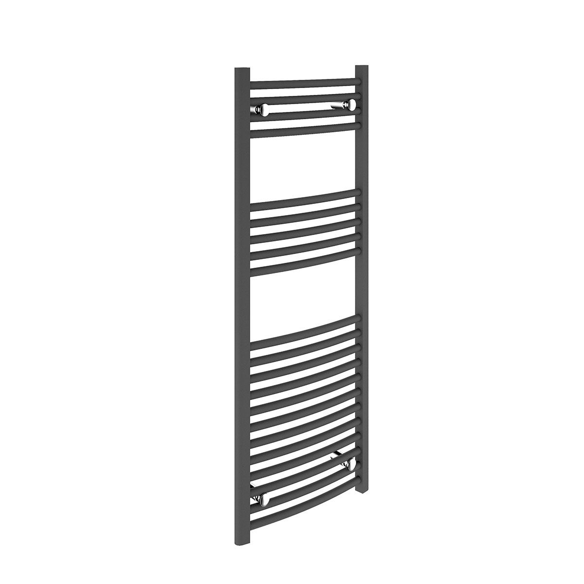 Bathrooms to Love Curved Anthracite Towel Warmer 500 x 1200mm