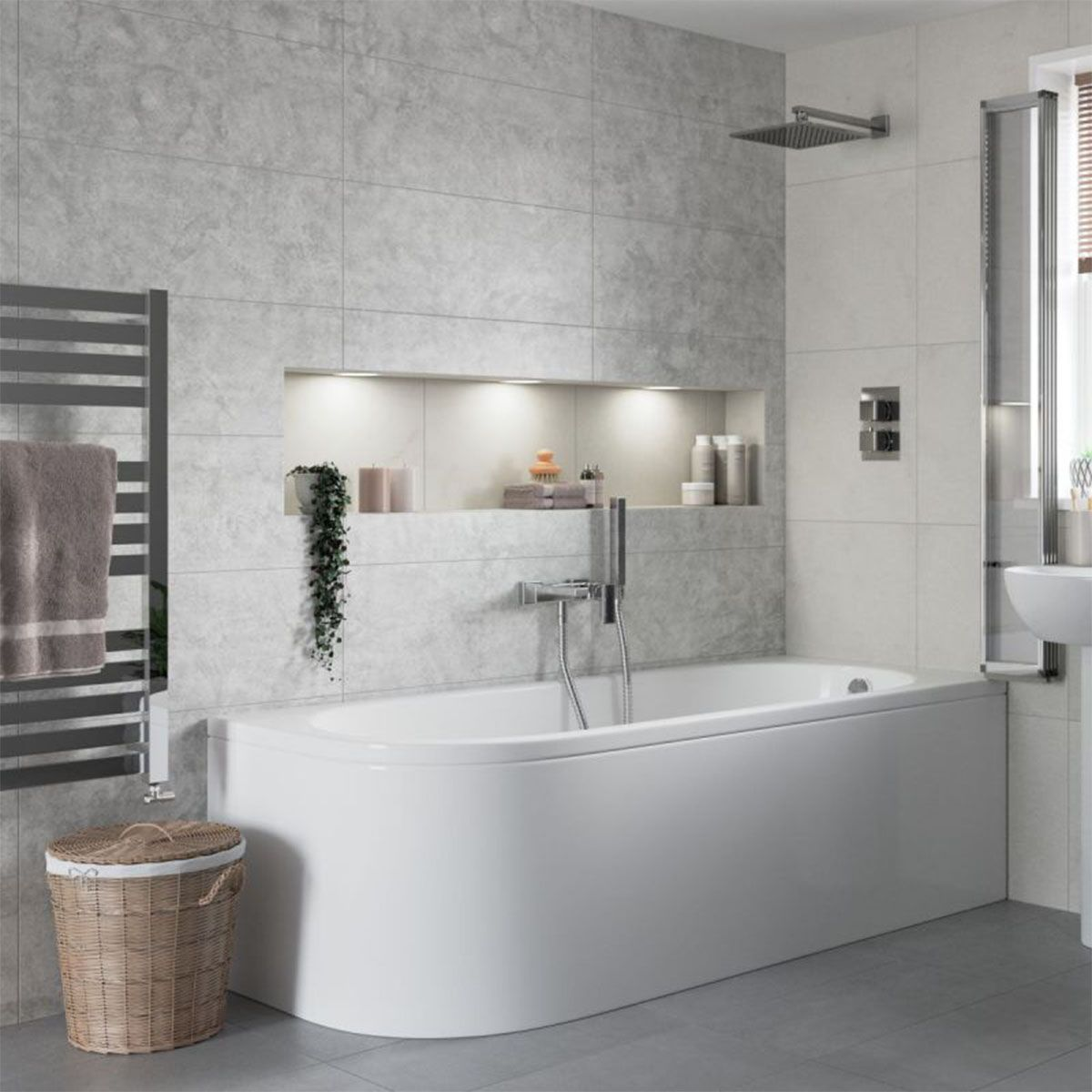 Bathrooms to Love Essence Back To Wall LH Bath 1695 x 745mm