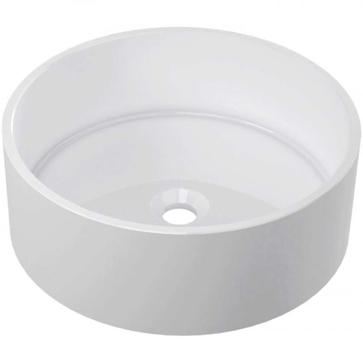 Bathrooms To Love Hana White Round Polymarble Washbowl