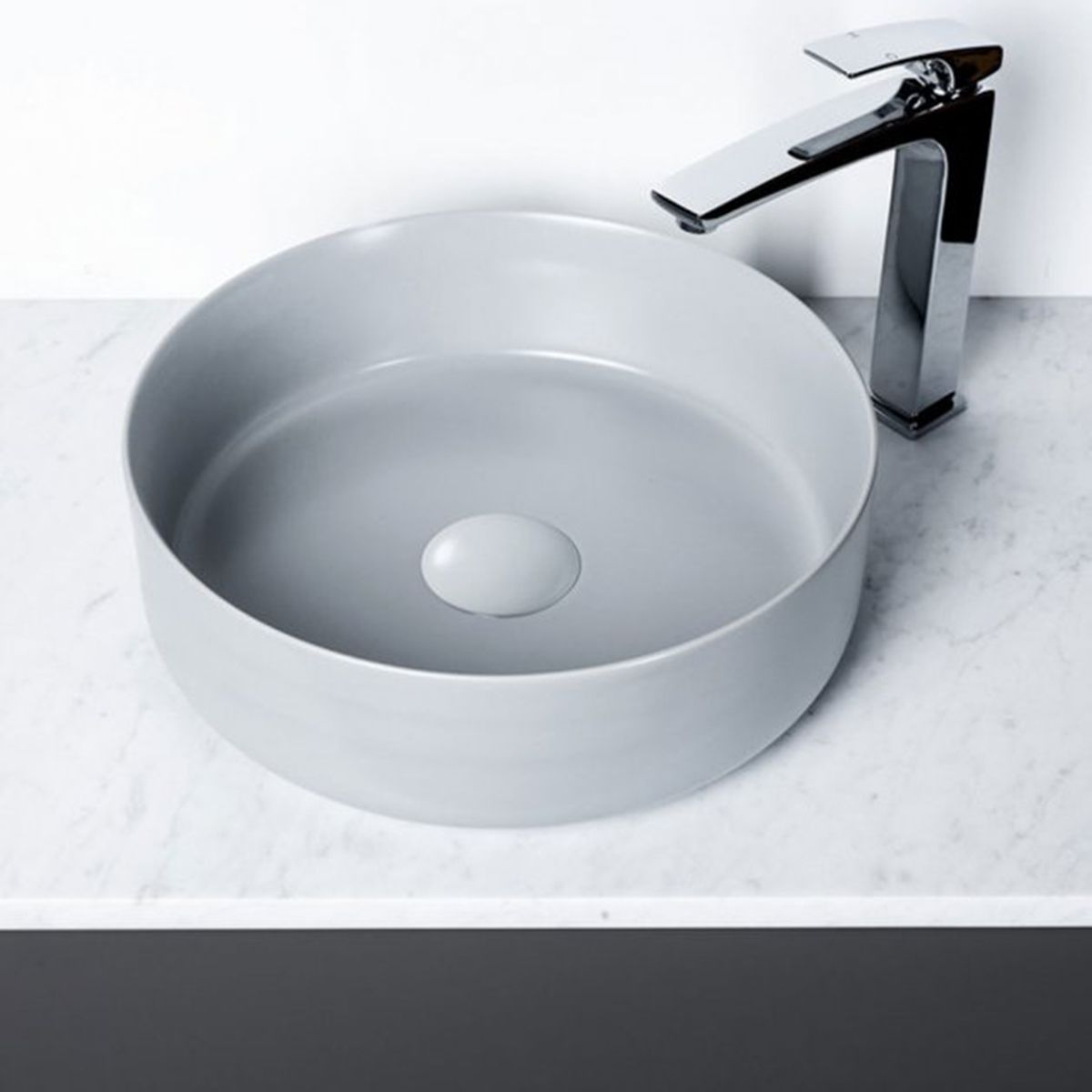 Bathrooms To Love Luxey Matt Grey Ceramic Washbowl & Waste 355mm 2